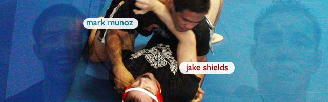 Mark Munoz & Jake Shields grappling