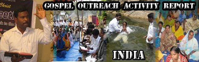 India Evangelistic Outreach report - Sept & Oct 2011