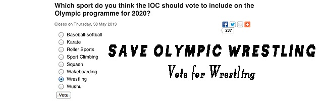 Save Olympic Wresting - Your vote counts