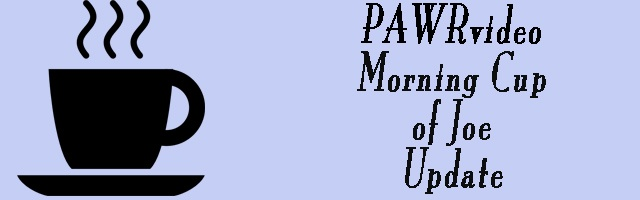 PAWRvideo Morning Cup of Joe Update