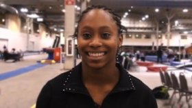 Watch Aja Sims clinch the JO Title on Beam