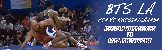 74 lbs match Jordan Burroughs USA vs. Saba Khubetzhy Russia