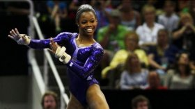Gabby Douglas Back in the Gym!