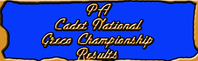 PA Cadet Greco Team at National Duals