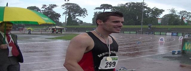 100m M David Hynes winner Senior T&F Championships 2013