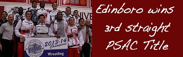 Edinboro wins 3rd straight PSAC titel (Brackets Attached)