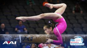 Beam Queen Norah Flatley Rock Solid in Podium Training