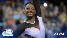 Biles Puts Pressure on Herself but Comes Out On Top