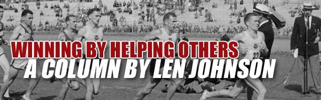 Winning by helping others: By Len Johnson