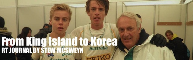 RT Journal by Stew McSweyn; From King Island to Korea